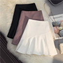 skirt Summer 2021 S M L XL 2XL White Elastic Black Elastic bean paste red elastic Short skirt Versatile High waist A-line skirt Solid color Type A 25-29 years old More than 95% other SHMO other Lotus leaf edge Other 100% 401g / m ^ 2 (inclusive) - 500g / m ^ 2 (inclusive)