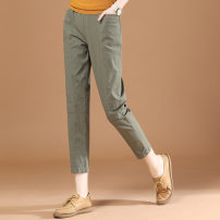Casual pants Army green XL,L,M Summer 2021 Ninth pants Straight pants Natural waist Versatile routine 25-29 years old 51% (inclusive) - 70% (inclusive) Brother amashi cotton Sticking cloth spandex