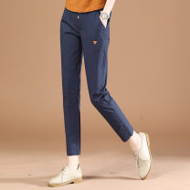 Casual pants Black, royal blue XL,L,M Spring 2021 trousers Straight pants Natural waist Other styles routine 25-29 years old 51% (inclusive) - 70% (inclusive) Brother amashi other Button spandex
