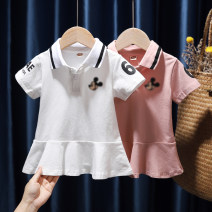 Dress White, pink, 730 pink, 730 white, 085 pink, 622 blue, 622 pink, 761 black, 761 red, 761 blue, 829 red, 829 yellow, 829 color female Tagkita / she and others 80, 90, 100, 110, 120, 130 Other 100% summer Korean version Short sleeve Cartoon animation cotton Pleats FHW839