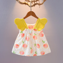 Dress Red, yellow female Other / other 66cm (66cm (0-3 months)), 73cm (73cm (3-6 months)), 80cm (80cm (7 months to one year old)), 90cm (90cm (one and a half to two years old)), 100cm (100cm (two and a half years old)), 110cm (110cm (three years old)) Cotton 100% summer princess Skirt / vest cotton