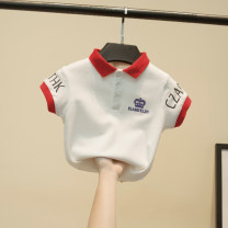 T-shirt white Other / other 90cm,100cm,110cm,120cm,130cm male summer Short sleeve Lapel and pointed collar Korean version No model cotton Solid color Cotton 95% other 5% Polo crown Class B 2 years old, 3 years old, 4 years old, 5 years old, 6 years old, 7 years old, 8 years old