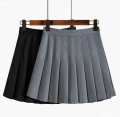 skirt Summer 2021 M,L,XL,S White, gray, black Short skirt commute High waist Pleated skirt Solid color Type A 18-24 years old 51% (inclusive) - 70% (inclusive) other Ocnltiy other Korean version