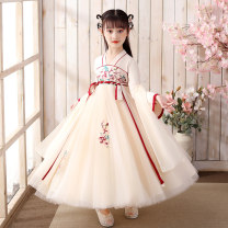 Dress female Other / other 110cm,120cm,130cm,140cm,150cm,160cm Cotton 100% summer princess Long sleeves Broken flowers other A-line skirt Class B 2, 3, 4, 5, 6, 7, 8, 9, 10, 11, 12, 13, 14 years old Chinese Mainland
