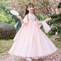 Tang costume 110,120,130,140,150,160 Cotton 100% female summer There are models in the real shooting Thin money Other / other other Class B Broken flowers Cotton liner Chinese Mainland