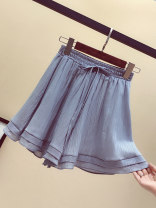 Casual pants Black, blue grey S,M,L,XL,2XL,3XL,4XL,5XL Summer 2021 shorts Wide leg pants High waist commute routine 18-24 years old 96% and above GB008 Ocnltiy cotton Korean version cotton