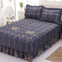. Piece set With bed skirt dust cover keep warm smart cover Double bedspread princess suit a new house Wrap skirt sheets mattress