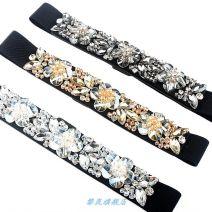 Belt / belt / chain Pu (artificial leather) Black champagne white female belt Versatile Single loop juvenile Flower design soft surface alloy flower Li Lan 67cm Winter 2020