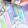 candle Candy 8 neon 10 curved candles 6 pink light yellow light green sky blue dark blue violet birthday