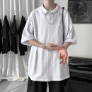 Polo shirt Other / other Youth fashion routine White, black M. L, XL, 2XL, 3XL, s small, XS plus small easy Other leisure summer Short sleeve tide routine teenagers Cotton 100% 2021 other cotton other Metal decoration More than 95%