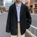 man 's suit black Others Youth fashion routine M. L, XL, 2XL, s small, XS plus small easy Double breasted Other leisure No slits teenagers Long sleeves routine Japanese Retro Casual clothes Round hem Solid color 2020 No iron treatment