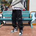 Casual pants Others Youth fashion Black, green M. L, XL, 2XL, 3XL, 4XL, 5XL, s small, XS plus small routine trousers Other leisure easy Micro bomb spring youth tide 2020 middle-waisted Cotton 100%