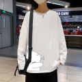 T-shirt Youth fashion Gray, white, black routine S. M, l, XL, 2XL, 3XL, 4XL, 5XL, XS plus small Others Long sleeves Crew neck easy Other leisure autumn like a breath of fresh air printing