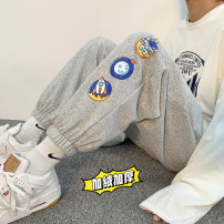 Casual pants Others Fashion City Black plush, gray plush, white plush S. M, l, XL, 2XL, XS plus small routine trousers Other leisure easy Micro bomb autumn youth 2020 Polyester 100%