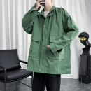 Jacket Other / other other Black, army green M. L, XL, 2XL, 3XL, s small, 4XL, 5XL, XS plus small routine standard Other leisure autumn Long sleeves Wear out stand collar Basic public routine Single breasted 2020 Cloth hem washing Closing sleeve Solid color Epaulet Cover patch bag cotton