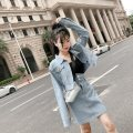 Fashion suit Autumn of 2018 S,M,L Light blue, dark blue 18-25 years old Other / other
