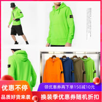 Sweater Youth fashion S,M,L,XL,2XL Solid color Socket Plush Hood winter easy leisure time tide routine Fleece  cotton Cloth decoration other Hidden thread patch bag