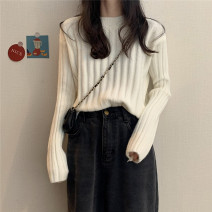 Wool knitwear Autumn 2020 Average size Black, lake blue, dark green, dark red, mocha, milk white, girl pink, 5927 with velvet white stripe Long sleeves singleton  Socket other 30% and below have cash less than that is registered in the accounts routine commute Low crew neck routine Solid color Socket