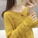 sweater Spring of 2019 S M L XL Long sleeves Socket singleton  Regular other 95% and above V-neck Thin money commute routine Solid color Straight cylinder Regular wool Keep warm and warm 25-29 years old Feibasha Gouhua hollow Other 100% Pure e-commerce (online only)
