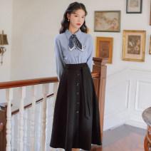 Fashion suit Winter 2020 S,M,L Black skirt original factory spot direct sales, blue jacket original factory spot direct sales, suit original factory spot direct sales 18-25 years old 31% (inclusive) - 50% (inclusive)