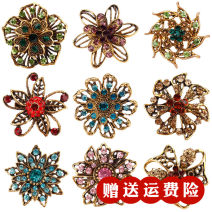 Brooch Alloy / silver / gold RMB 1.00-9.99 Weiman brand new goods in stock Retro / court female Fresh out of the oven Alloy inlaid artificial gem / semi gem Plants and flowers Xd5444 Brooch