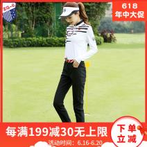Golf apparel female ZG-6 trousers Y6627,K6622 M,XL,L,S,XXL Trousers black, top + trousers, top white