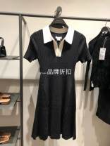 Dress Summer 2021 It's black XS,S,M,L,XL Short skirt singleton  Short sleeve Polo collar middle-waisted other 25-29 years old uruc 31% (inclusive) - 50% (inclusive) other