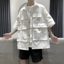 shirt Youth fashion Others M,L,XL White, black routine square neck Short sleeve easy Other leisure summer tide polyester fiber