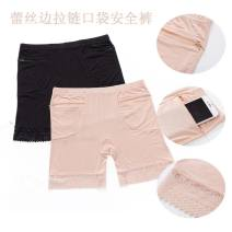 Leggings Summer 2020 One for [black] zipper pocket, one for [skin color] zipper pocket, two for [black + black] zipper pocket, two for [skin color + skin color] zipper pocket, two for [black + skin color] zipper pocket M, L Thin money shorts 35-39 years old Other / other pure cotton
