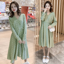 Dress Other / other Picture color M,L,XXL,XL,XXS Korean version Long sleeves have more cash than can be accounted for spring Dot