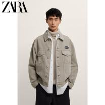 Jacket ZARA Fashion City Sand color M (180/96A) L (180/100A) XL (185/104A) routine standard Other leisure Four seasons 02740403711-30 Cotton 100% Long sleeves Wear out Lapel Youthful vigor youth routine Solid color Spring 2012 Same model in shopping mall (sold online and offline)