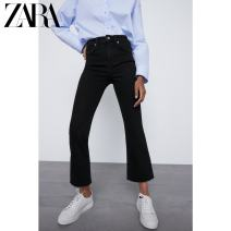 Jeans Spring 2021 black 25 (160/58A) 26 (165/62A) 27 (165/66A) 28 (170/70A) 29 (170/74A) 30 (175/78A) 31 (175/82A) 32 (180/86A) trousers low-waisted Flared trousers routine 25-29 years old Button Dark color 03643019800-30 ZARA Cotton 98% polyurethane elastic fiber (spandex) 2%