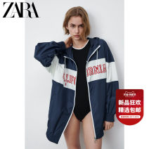 short coat Summer 2021 XS (160/80A) S (165/84A) M (170/88A) L (175/96A) XL (175/100A) XXL (180/108A) Sea blue Long sleeves routine routine singleton  Straight cylinder street routine Hood zipper other 25-29 years old ZARA 96% and above zipper 05854025401-30 polyester fiber Polyester 100%