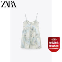 Dress Summer 2021 Green blue XS (160/80A) S (165/84A) M (170/88A) L (175/96A) Middle-skirt singleton  Sleeveless Sweet other Socket 25-29 years old Type H ZARA tie-dyed 02861444903-30 More than 95% cotton Cotton 100% Ruili Same model in shopping mall (sold online and offline)