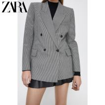 suit Autumn 2020 White / Black XS (160/80A) S (165/84A) M (170/88A) L (175/96A) XL (175/100A) XXL (180/108A) Long sleeves routine tailored collar Versatile routine 02010704064-30 18-24 years old 51% (inclusive) - 70% (inclusive) polyester fiber ZARA