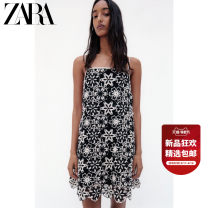 Dress Summer 2021 black XS (160/80A) S (165/84A) M (170/88A) L (175/96A) XL (175/100A) Middle-skirt singleton  Sleeveless Sweet middle-waisted other Socket 25-29 years old Type H ZARA 04786085800-30 More than 95% polyester fiber Polyester 100% Ruili