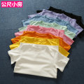 T-shirt White, yellow, orange, pink, light green, light blue, black, taro purple Average size Summer of 2019 Short sleeve Crew neck Straight cylinder Regular routine street cotton 96% and above Europe and America
