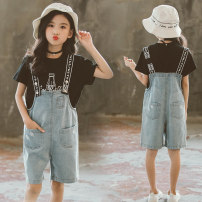suit Other / other black 110cm,120cm,130cm,140cm,150cm,160cm female summer leisure time Short sleeve + pants 2 pieces routine There are models in the real shooting Socket nothing other other elder Expression of love Class B Other 100% Chinese Mainland Zhejiang Province Huzhou City