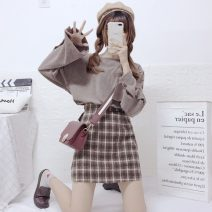 Fashion suit Spring 2020 Average size Top, skirt s, Skirt M 18-25 years old Other / other 8-11