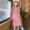 Dress Spring 2021 Pink, black Average size Short skirt singleton  Short sleeve commute tailored collar 18-24 years old Korean version 2/27