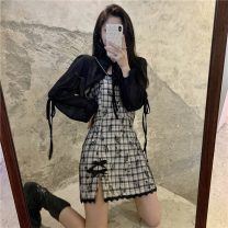 Fashion suit Spring 2021 S. M, l, average size Shawl, black suspender skirt 18-25 years old 3*9