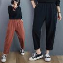 Casual pants Brown, black M [90-110 Jin], l [110-130 Jin], XL [130-150 Jin], 2XL [150-170 Jin] Autumn 2020 trousers Haren pants Natural waist commute routine 96% and above cotton literature pocket hemp