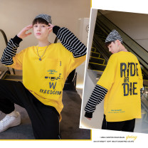 T-shirt Black, white, yellow Other / other 155cm (hanging tag 150 is suitable for about 155 height), 165cm (hanging tag 160 is suitable for about 165 height), 175cm (hanging tag 170 is suitable for about 175 height), 180cm (hanging tag 180 is suitable for about 180 height) male spring and autumn