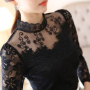 Lace / Chiffon Winter 2015 Black, white, black plush, white plush M,L,XL,2XL,3XL,4XL,5XL Long sleeves commute Socket singleton  Self cultivation Regular stand collar other routine 18-24 years old Other / other Korean version 81% (inclusive) - 90% (inclusive) nylon