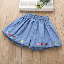 trousers Warm spring fairy tale female 110cm 120cm 130cm 140cm 150cm 160cm blue summer shorts leisure time No model Jeans Leather belt middle-waisted cotton Don't open the crotch Cotton 100% NNDKZ2035 Class B Spring 2021 Chinese Mainland Guangdong Province Foshan City