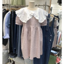 Dress Summer 2021 Green, pink S,M,L Mid length dress singleton  Short sleeve commute Doll Collar Loose waist other Socket other puff sleeve Others 25-29 years old Type A Smzy / Aestheticism Korean version Fungus, splicing F89921 91% (inclusive) - 95% (inclusive) other cotton