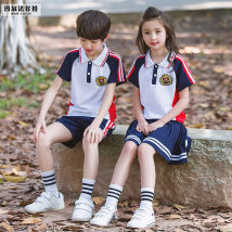 School uniform / school uniform customization Male white female white male red female red male green female green male red tie female red collar male white shirt female white shirt 100cm110cm120cm130cm140cm150cm160cm170cm180cm male Malfadova summer college Socket XQXF-18006 Short sleeve + pants