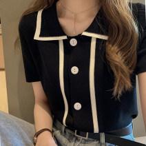 Women's large Summer of 2019 Green, black T-shirt singleton