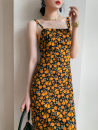Dress Winter 2016 Decor S,XL,L,M longuette singleton  commute One word collar High waist Decor Socket A-line skirt camisole 25-29 years old Type A Other / other Simplicity zipper