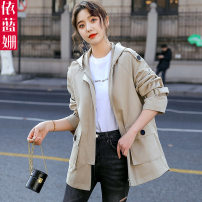 short coat Spring 2020 S M L XL Long sleeves have cash less than that is registered in the accounts routine singleton  easy Versatile routine Hood zipper Solid color 25-29 years old Yi Lanshan 96% and above Pocket button panel other Other 100% Pure e-commerce (online only)